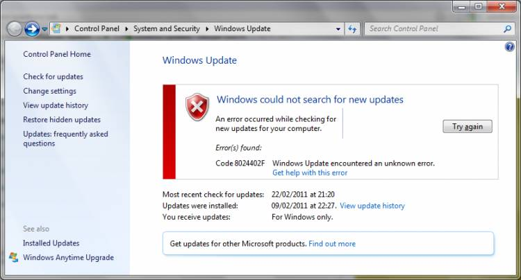 Windows 7 Update Alma Hatası Çözümü, Windows 8 Update alma Hatası Çözümü , Windows 10 Update alma Hatası Çözümü